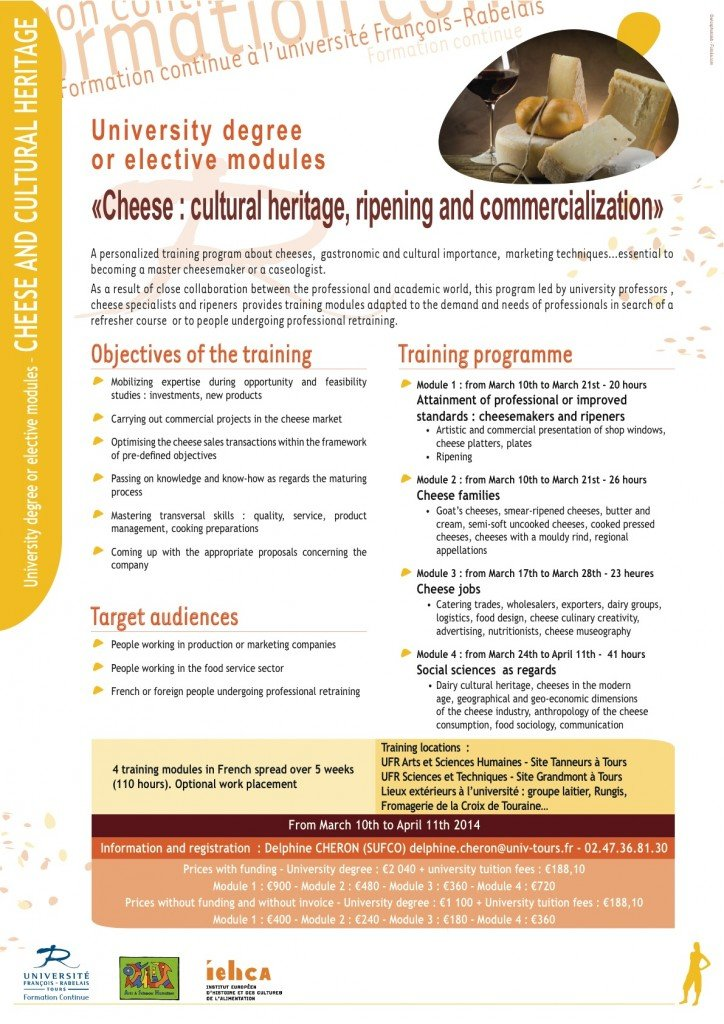 Cheese Cultural heritage-University degree