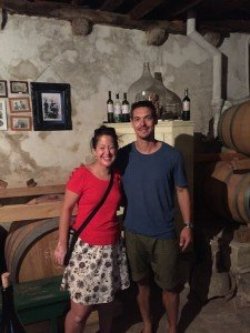 Brac winemaker and Paula