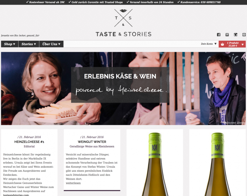 Taste and Stories Heinzelcheese Pop Up